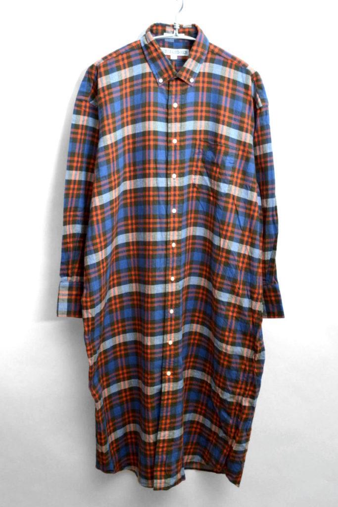 フランネルロングシャツ ドレス ワンピース