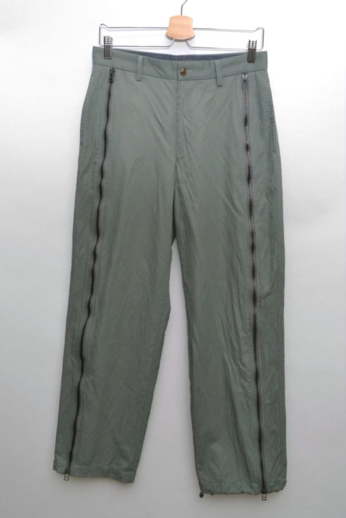 1999AW / ナイロンコットン 裾コード ジップパンツ 白タグ