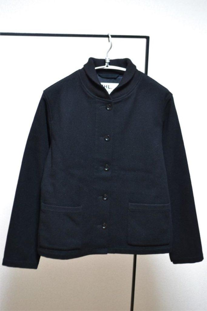 ブラックメルトン ウールフィールドジャケット