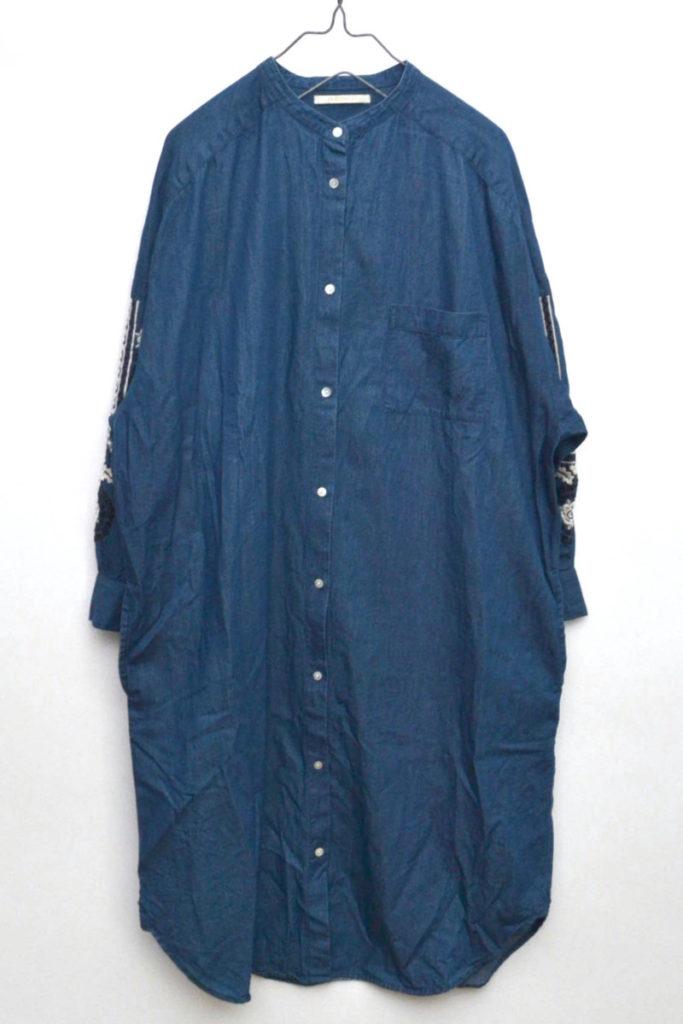 シャンブレーシャツドレス