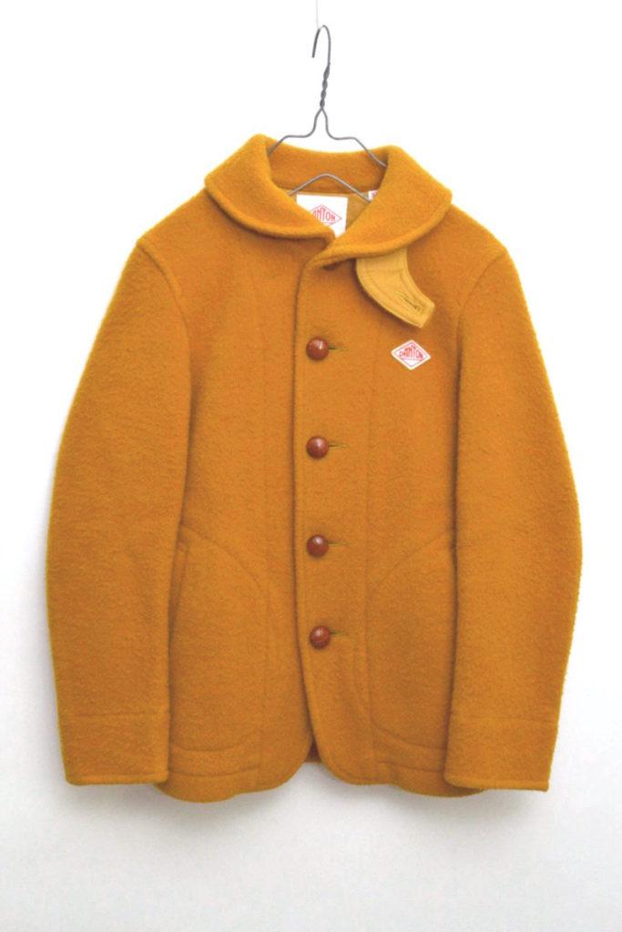 ウールモッサー ラウンドカラー シングルジャケット