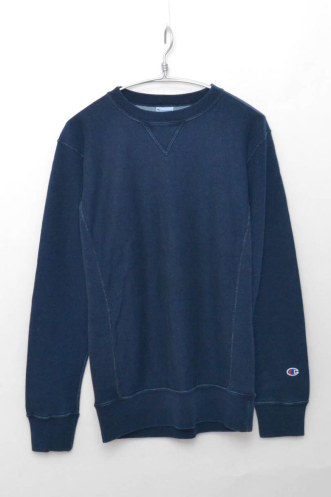 RW CREWNECK SWEAT-STONEWASH BLUE インディゴスウェットシャツ