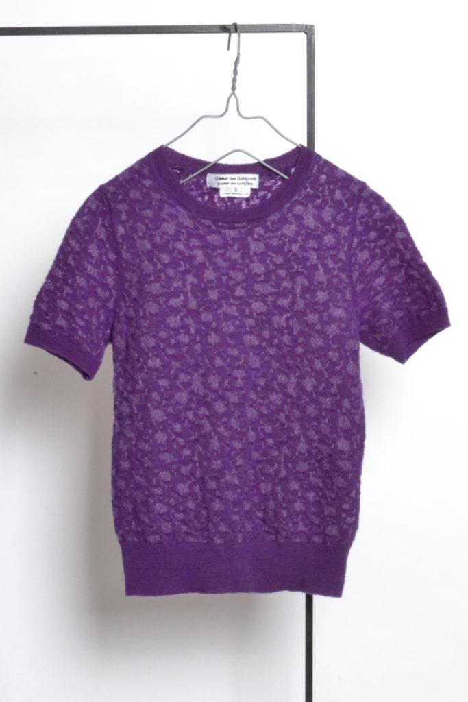 ジャガード 半袖 ニット Tシャツ