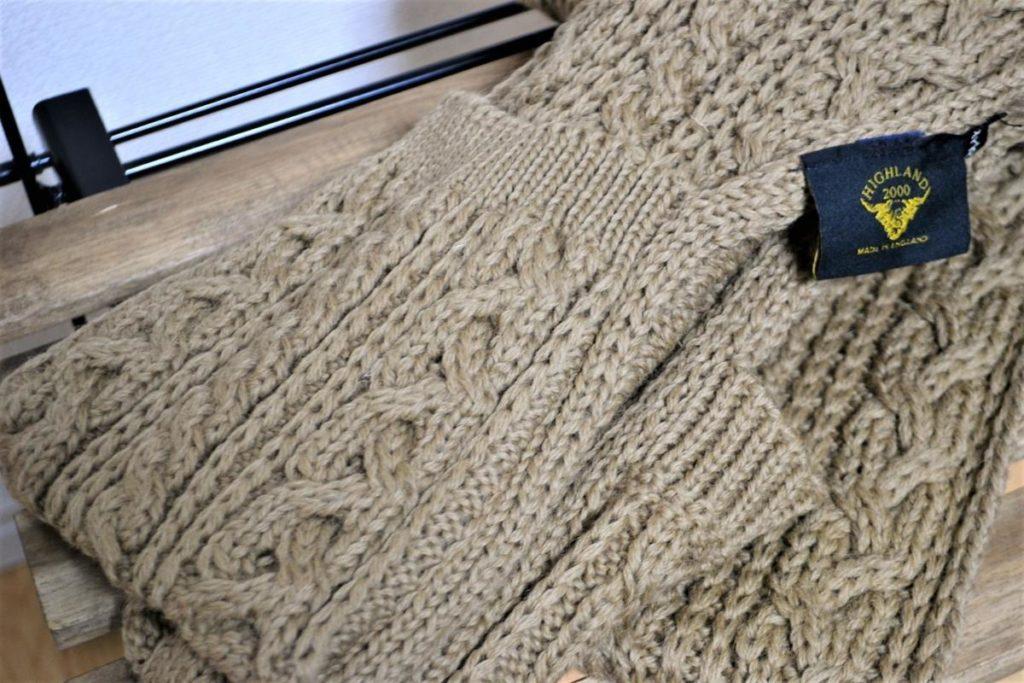 Pocket Scarf 別注 ケーブル編み ポケット付きマフラーの買取実績画像