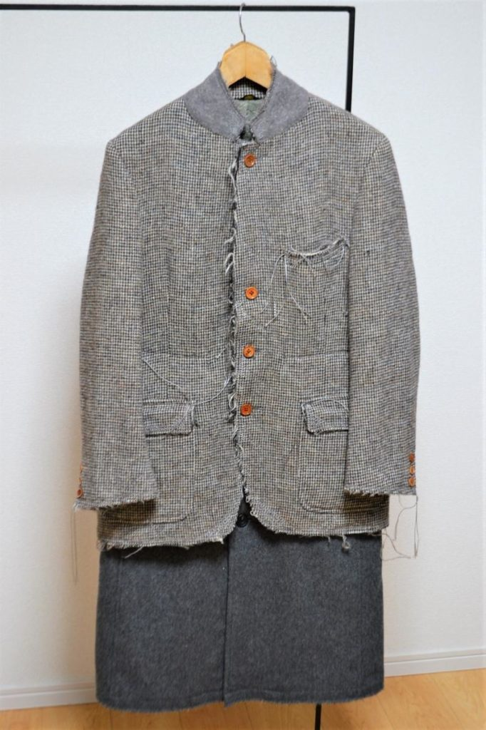 Harris Tweed Rough Out Coat ハリスツイード ドッキングコート