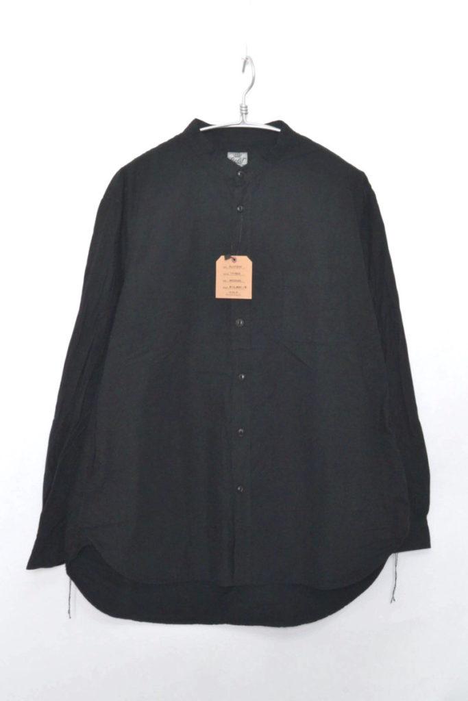 COTTON BROAD BAND COLLAR A-LINE SHIRT コットンブロード バンドカラーシャツ