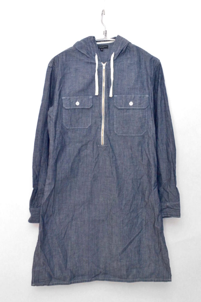 Long Bush Shirt-Cone Chambray-Blue シャンブレーロングシャツ