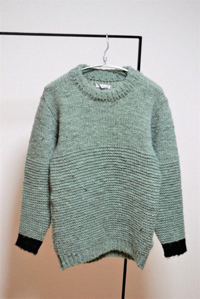 ローゲージ クルーネックニット セーター