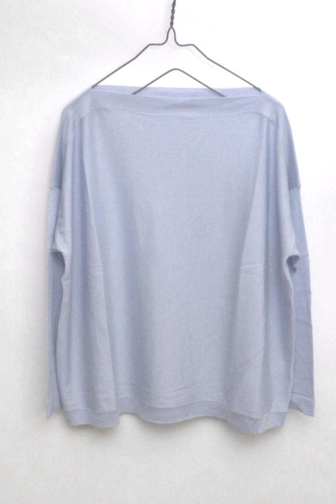 ウール シルク混紡 ハイゲージワイドニット セーター