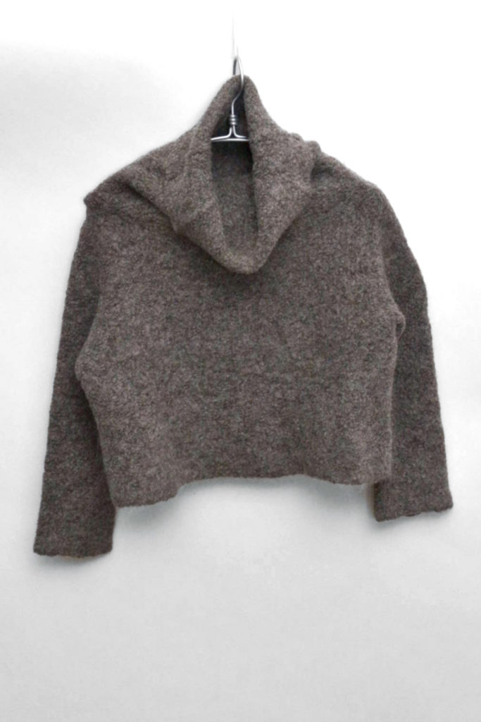 アルパカ ウール混紡 タートルネックニット セーター