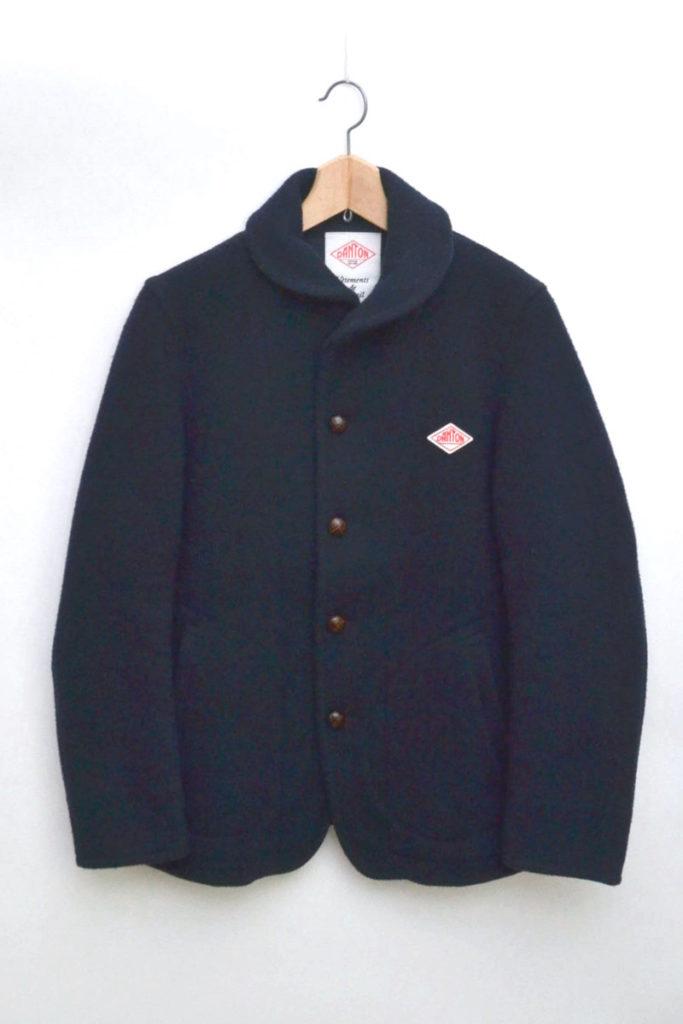 ウールモッサ ラウンドカラー シングルジャケット