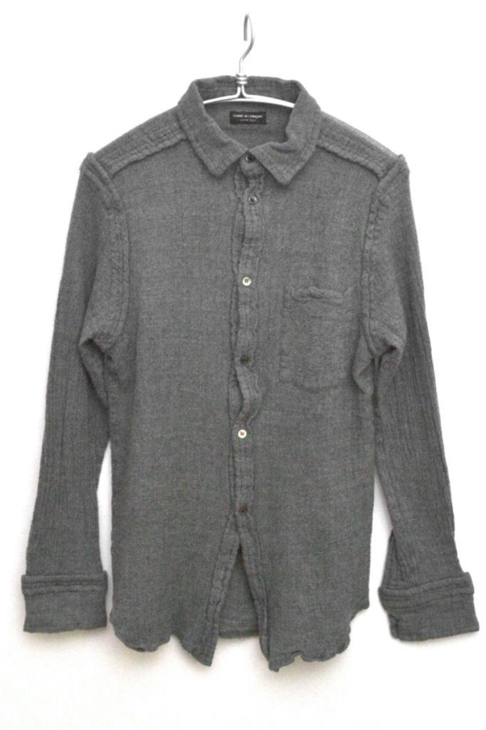 ウール縮絨シームシャツ