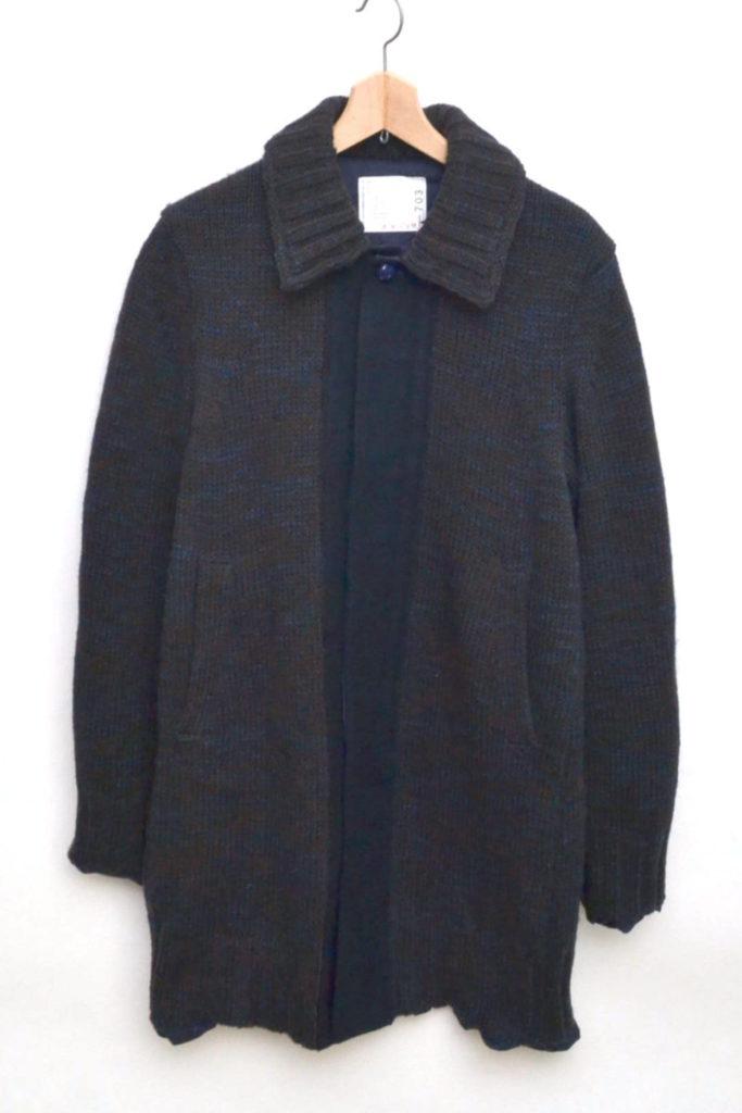キュプラ裏地 ウールニットコート
