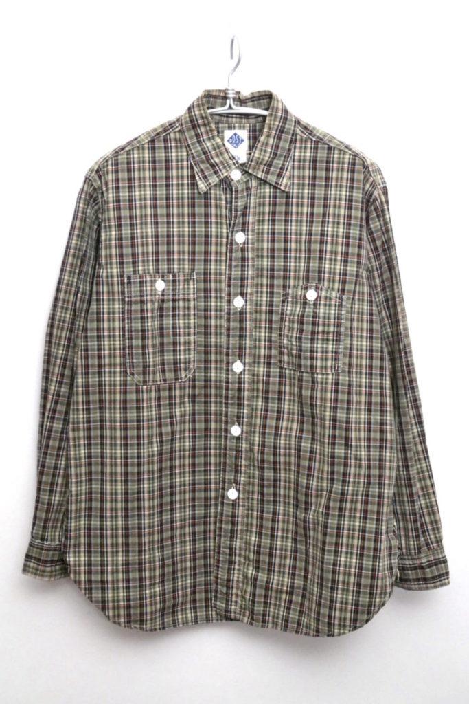 チェック 山ポケ ワークシャツ
