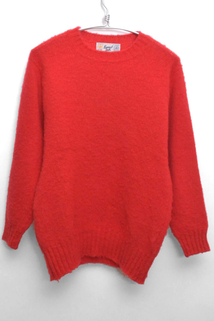 ウール クルーネックシャギードッグニット セーター