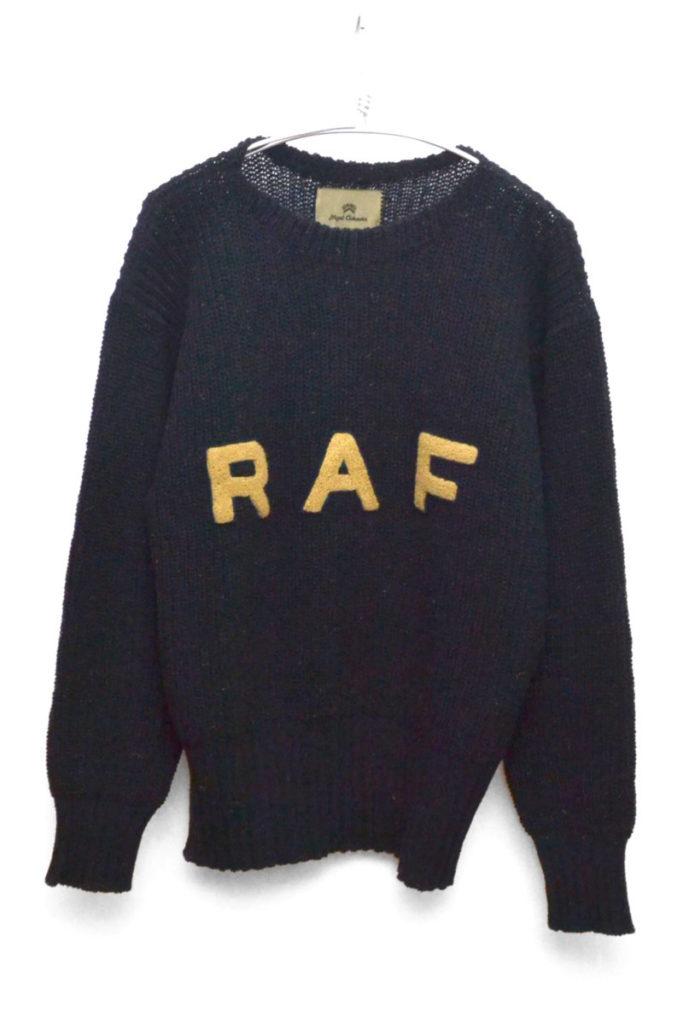 R.A.F SWEATER RAFワッペン ローゲージニットセーター