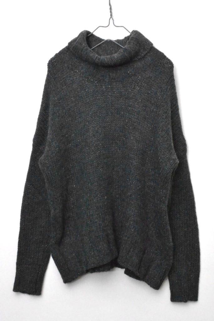 ラメニット タートルネック セーター