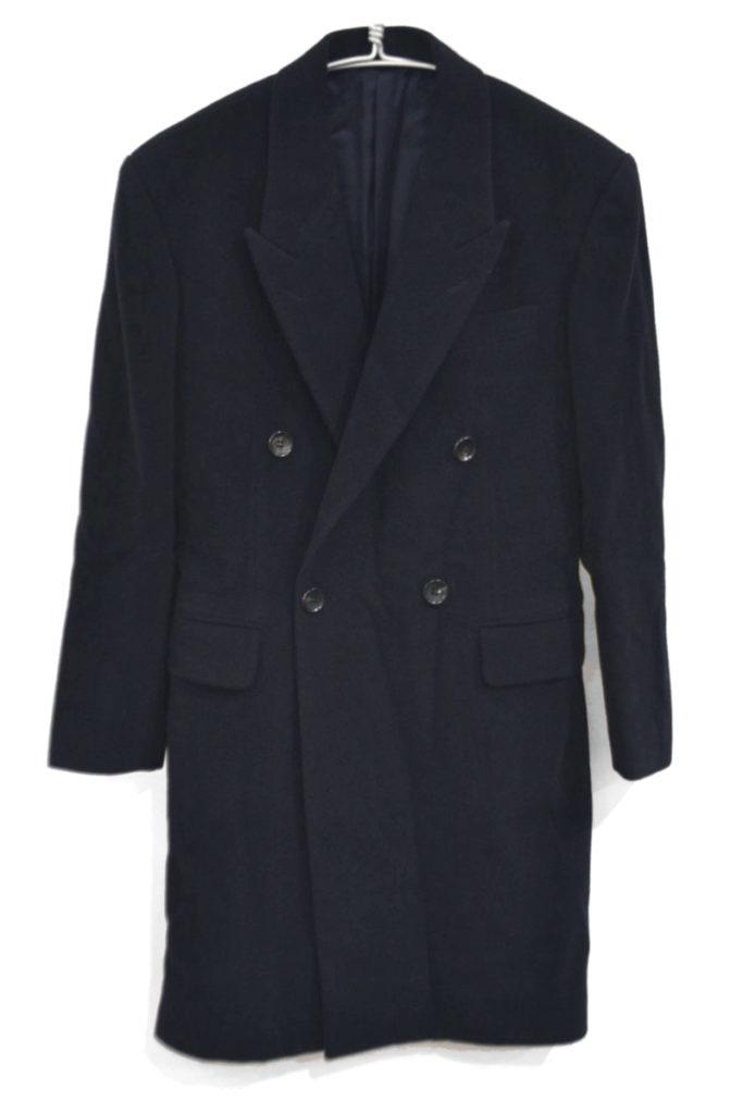 カシミヤ混紡 ウール ダブルブレスト コート