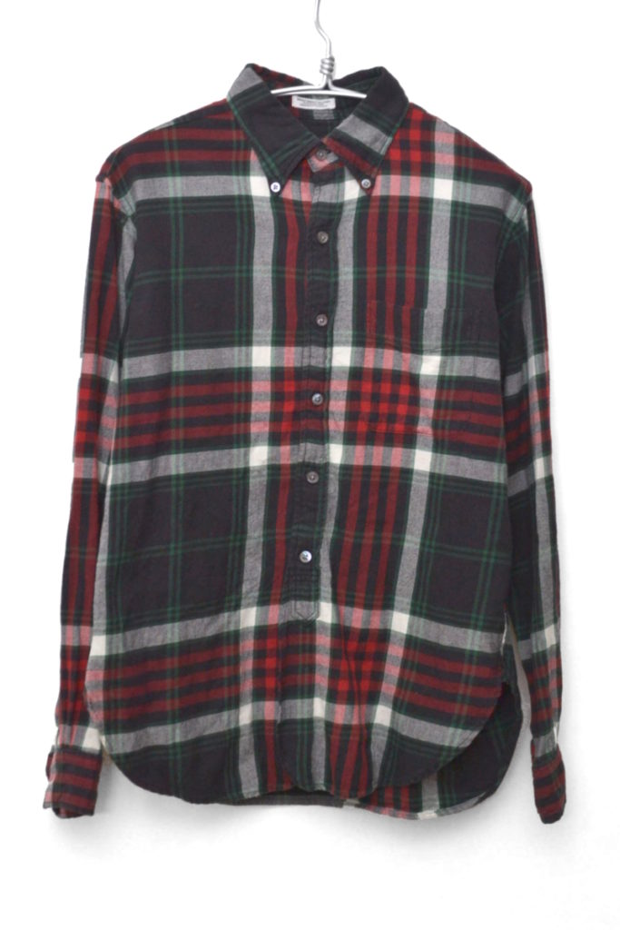 19th B.D.Shirt – Flannel Plaid フランネルボタンダウンシャツ ネルシャツ