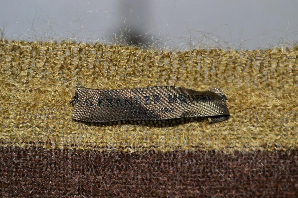 モヘヤ ボーダー ドロップショルダー ニット セーターの買取実績画像
