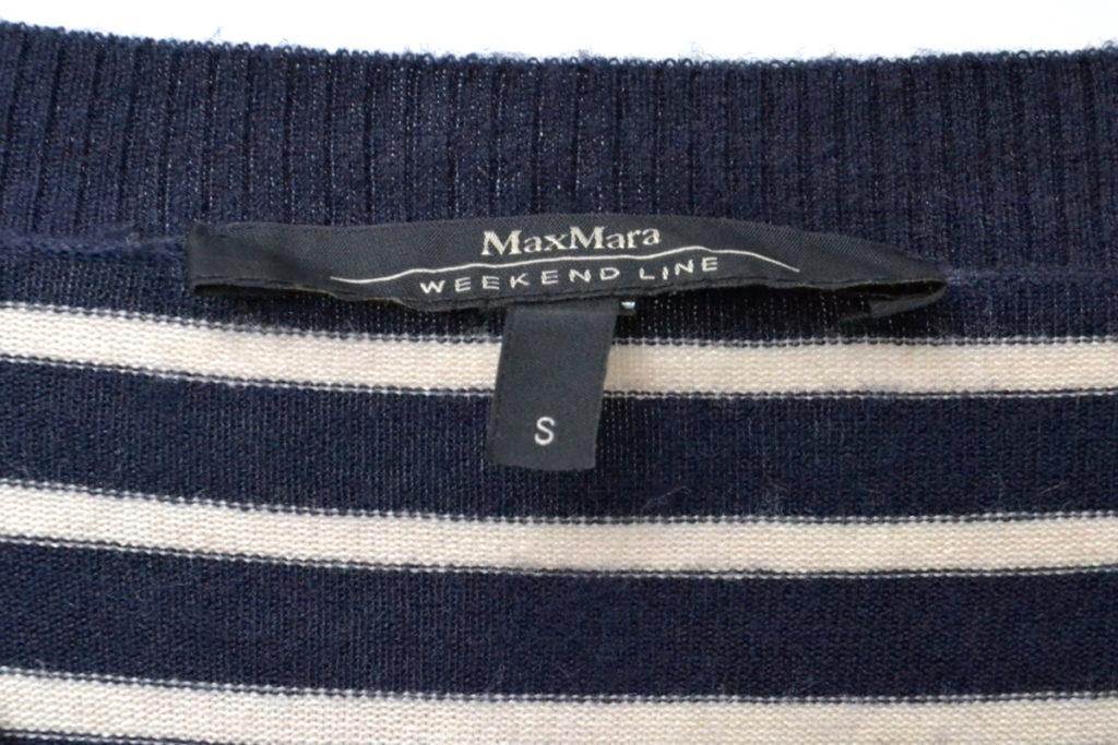 シルクウール Vネックボーダーニット セーターの買取実績画像