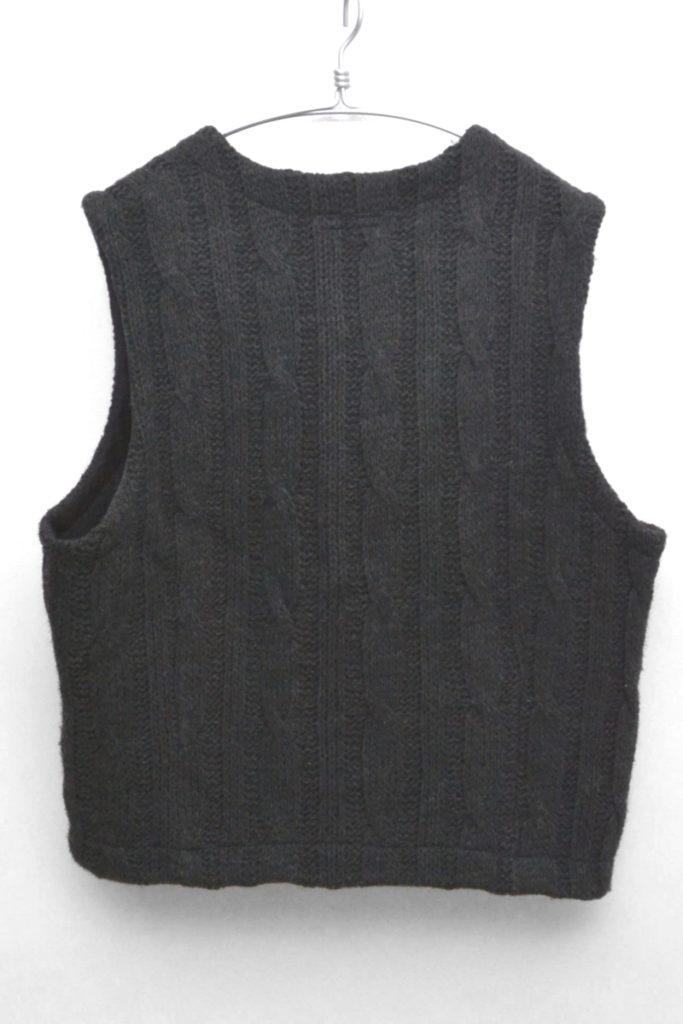 Combi Cable Knit Vest in Dark Grey ケーブルニットベストの買取実績画像