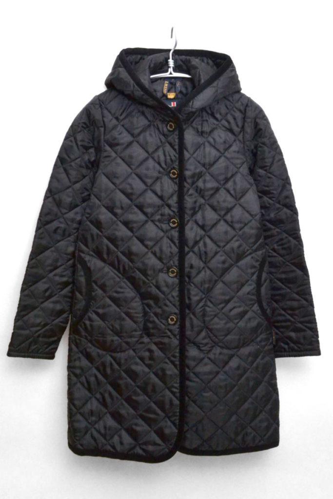 BRUNDON ブランドン キルティング フードロングコート ジャケット