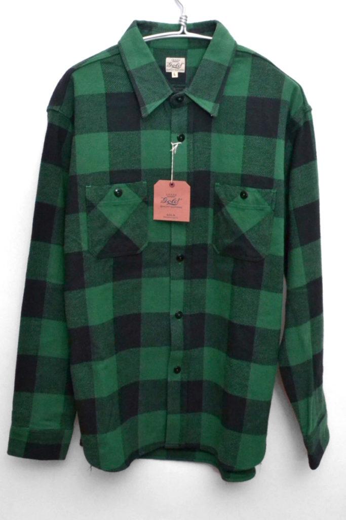 TWILL BLOCK CHECK WORK SHIRT ブロックチェック フランネルワークシャツ