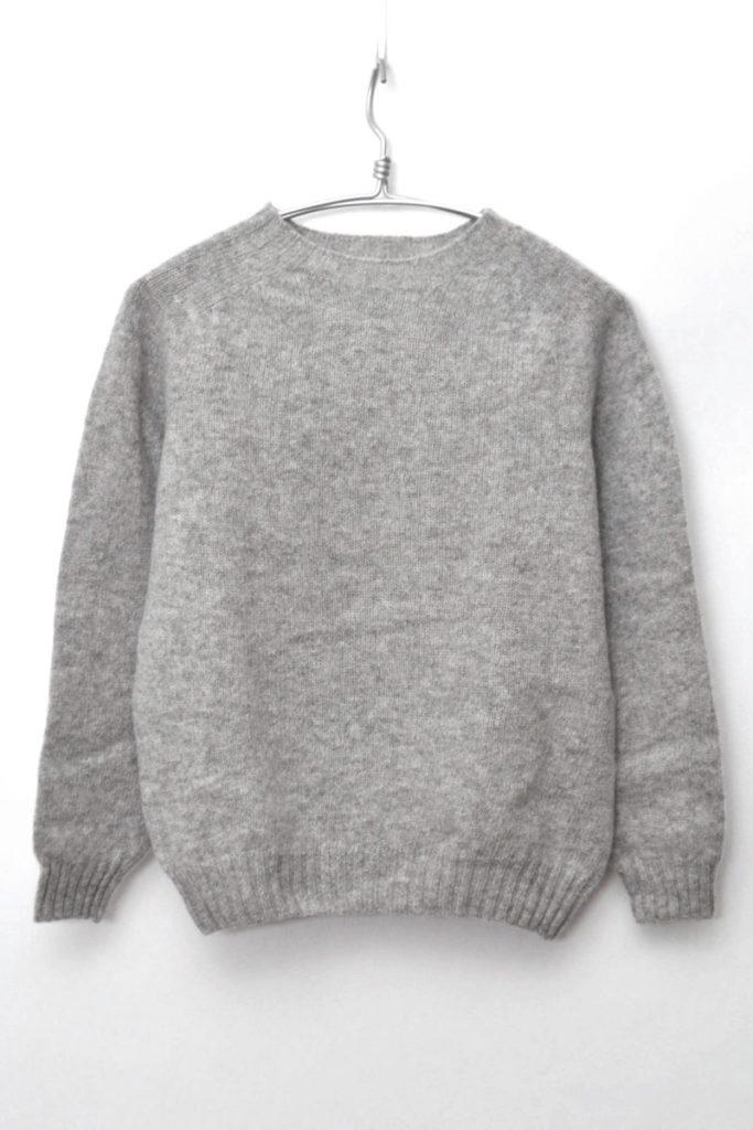 ウール クルーネックニット セーター