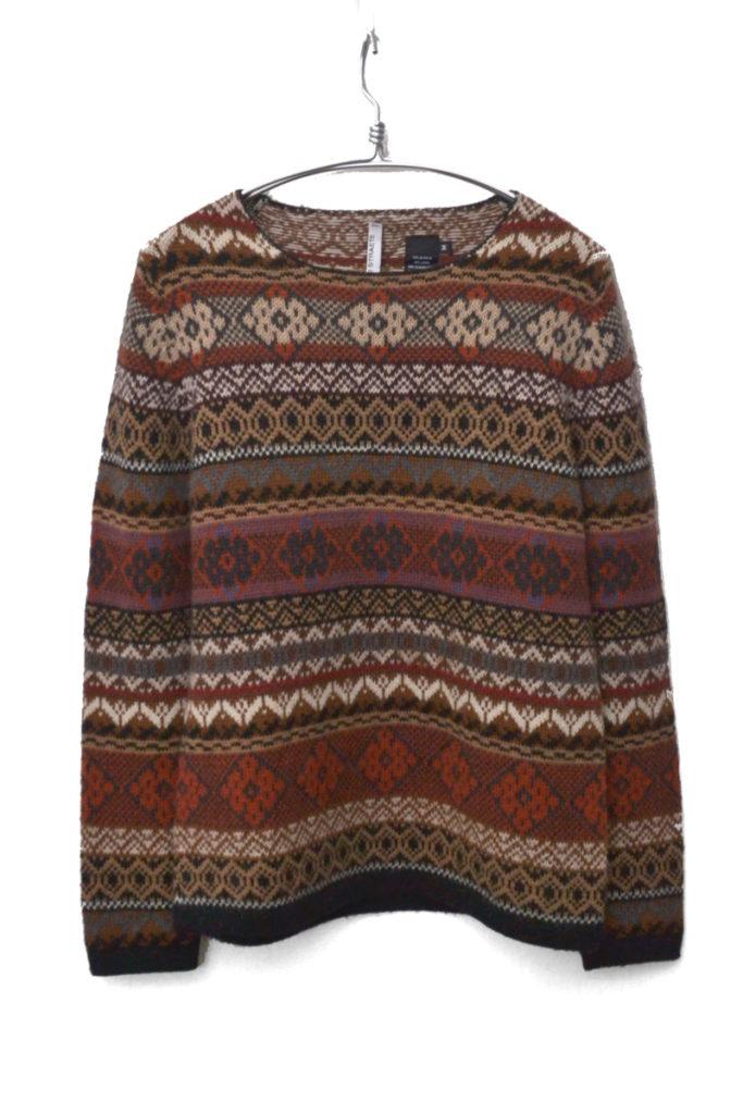 アルパカ混紡 フェアアイルニット セーター