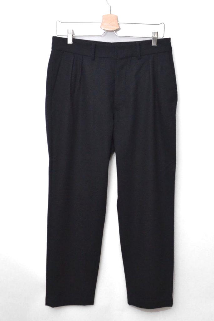 tasmania wool semi wide slacks タスマニアウール セミワイドスラックスパンツ