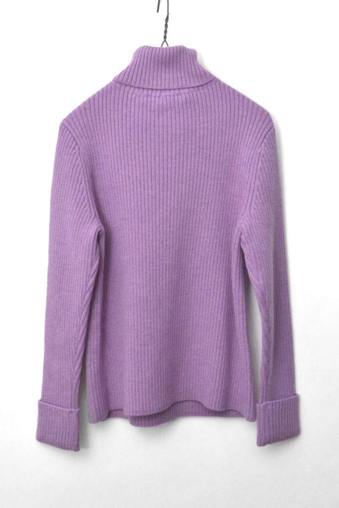 タートルネック ダブルボタン リブ編みニットセーターの買取実績画像