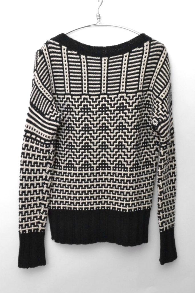 柄編みドロップショルダーニット セーターの買取実績画像