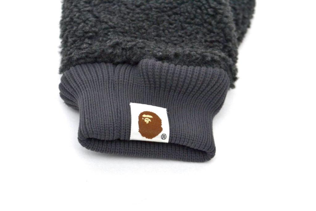 hs-3b High Street Grey Silver Detail Chunky Knit Hat Faux Fur Pompom One Size
