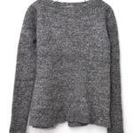 レディース ウール 裾フレア リブニット セーター