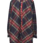 Stewart Tartan Relaxed Fit Dress タータンチェックBDシャツワンピース