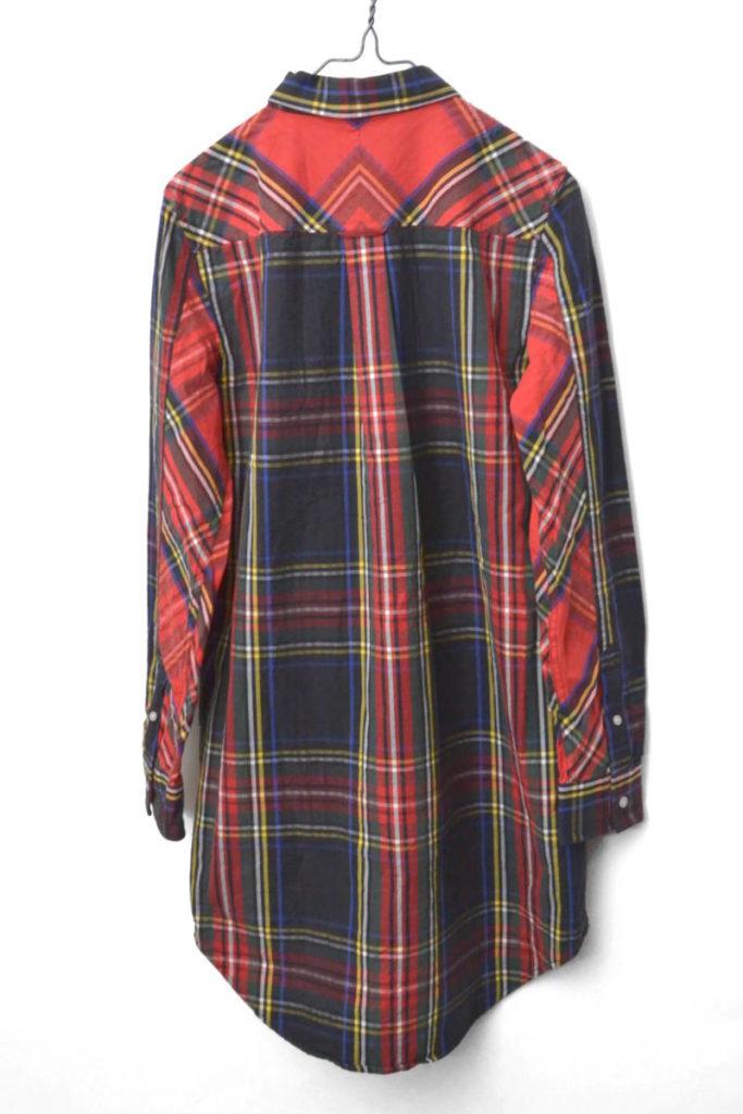 Stewart Tartan Relaxed Fit Dress タータンチェックBDシャツワンピースの買取実績画像