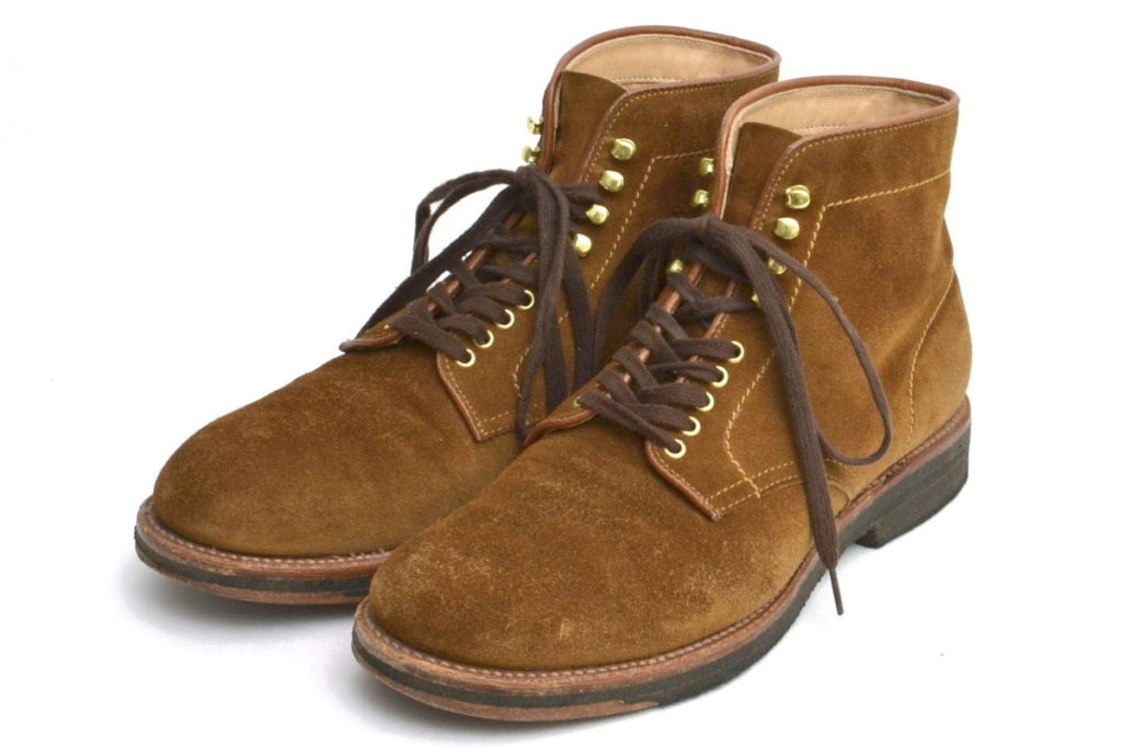 46054H SUEDE 6 PLAIN TOE BOOTS スウェード プレーントゥブーツ