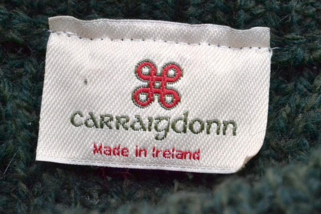 アイルランド製 ウールケーブルニット セーターの買取実績画像
