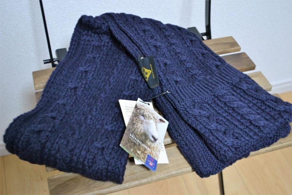 Pocket Scarf 別注 ケーブル編み ポケット付きマフラー