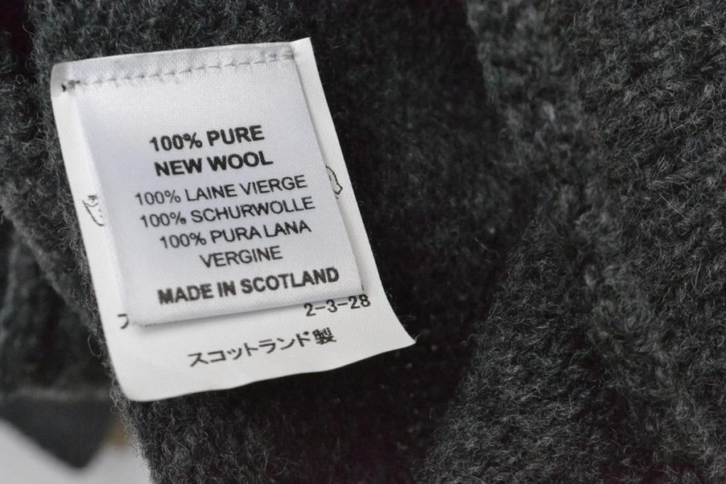 WIDE NECK KNIT ワイドネックニット セーターの買取実績画像