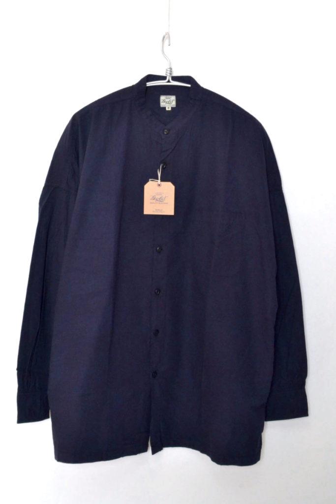 BAND COLLAR WIDE SHIRT COTTON BROAD コットンブロード ワイドシャツ