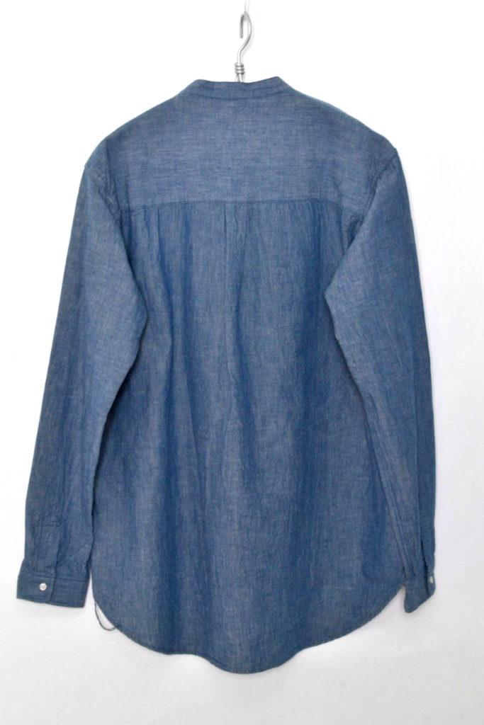 CHAMBRAY BAND COLLAR L/S SHIRT シャンブレーバンドカラーシャツの買取実績画像