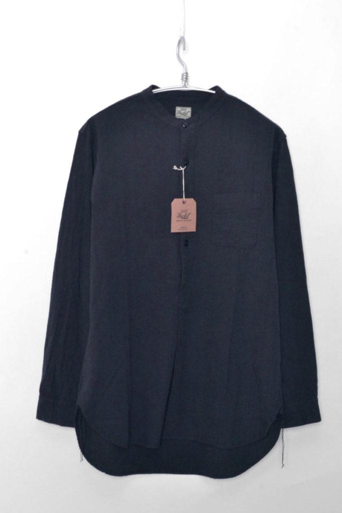 CHAMBRAY BAND COLLAR PULLOVER SHIRT シャンブレーバンドカラー プルオーバーシャツ