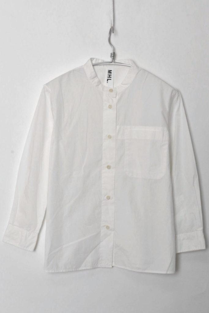 GARMENT DYE BASIC POPLIN ベーシックポプリン バンドカラーシャツ