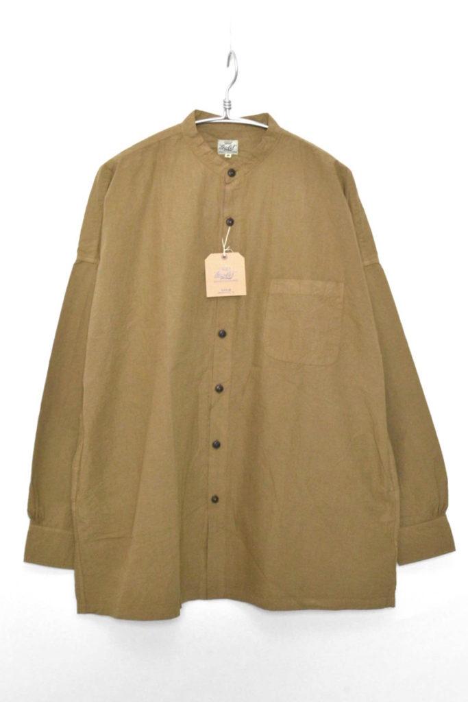 BAND COLLAR WIDE SHIRT COTTON BROAD コットンブロード バンドカラー ワイドシャツ