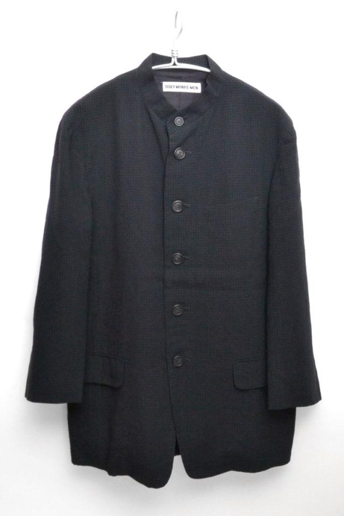 ウールリネン スタンドカラージャケット