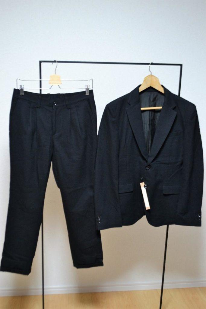 C/W GABARDINE 2B JACKET SET UP ギャバジン素材 スーツ セットアップ
