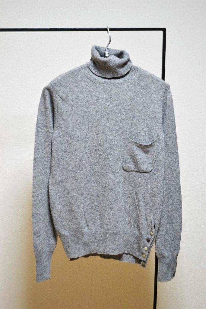 turtle neck sweater ポケット付き タートルネックニット セーター