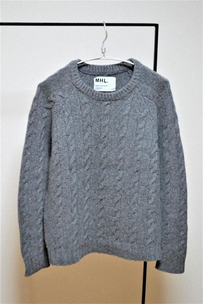 CHUNKY CABLE ケーブル編み クルーネック ニット セーター